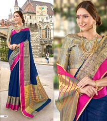 AMRAPALI SAREES BY TRIVENI DESIGNER ART SILK SAREES ARE AVAILABLE AT WHOLESALE BEST RATE BY GOSIYA EXPORTS