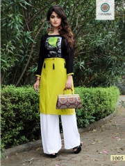 ARADHANA FASHION LEMON REYON DIGITAL PRINT KURTI WHOLESALER BEST RATE BY GOSIYA EXPORTS (5)