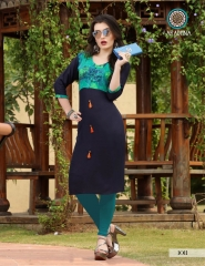 ARADHNA FASHION PARROT VOL 2 HEAVY RAYON PARTY WEAR DESIGNER KURTI COLLECTION (10)