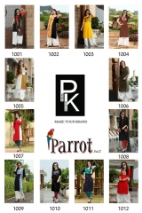 ARADHNA FASHION PARROT VOL 2 HEAVY RAYON PARTY WEAR DESIGNER KURTI COLLECTION (12)