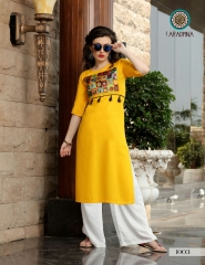 ARADHNA FASHION PARROT VOL 2 HEAVY RAYON PARTY WEAR DESIGNER KURTI COLLECTION (3)