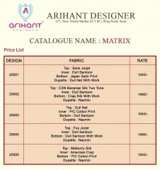 ARIHANT DESIGNER MATRIX CATALOG GEORGETTE WITH SILK SUPPLIER BEST (3)