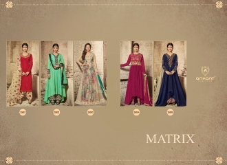 ARIHANT DESIGNER MATRIX CATALOG GEORGETTE WITH SILK SUPPLIER BEST (7)