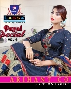 ARIHANT LASSA PAYAL SPECIAL VOL 4 COTTON FABRIC DRESS MATERIAL WHOLESALE DEALER BEST RATE BY GOSIYA EXPORTS SURAT (1)