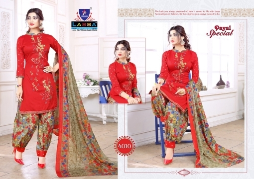 ARIHANT LASSA PAYAL SPECIAL VOL 4 COTTON FABRIC DRESS MATERIAL WHOLESALE DEALER BEST RATE BY GOSIYA EXPORTS SURAT (11)