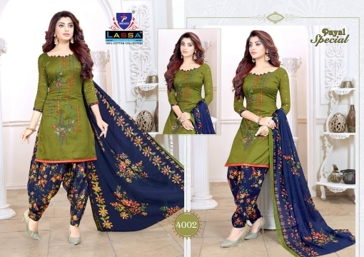 ARIHANT LASSA PAYAL SPECIAL VOL 4 COTTON FABRIC DRESS MATERIAL WHOLESALE DEALER BEST RATE BY GOSIYA EXPORTS SURAT (3)