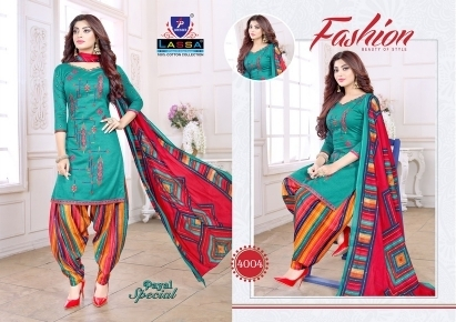 ARIHANT LASSA PAYAL SPECIAL VOL 4 COTTON FABRIC DRESS MATERIAL WHOLESALE DEALER BEST RATE BY GOSIYA EXPORTS SURAT (5)