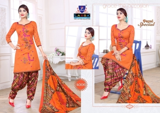 ARIHANT LASSA PAYAL SPECIAL VOL 4 COTTON FABRIC DRESS MATERIAL WHOLESALE DEALER BEST RATE BY GOSIYA EXPORTS SURAT (7)