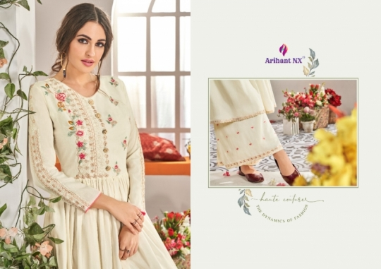 ARIHANT NX CHAHAT VOL 1 MAKLIN PLAZZO STYLE READYMADE SUIT COLLECTION WHOLESALE DEALER BEST RATE BY GOSIYA EXPORTS SURAT (10)