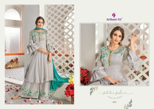 ARIHANT NX CHAHAT VOL 1 MAKLIN PLAZZO STYLE READYMADE SUIT COLLECTION WHOLESALE DEALER BEST RATE BY GOSIYA EXPORTS SURAT (12)
