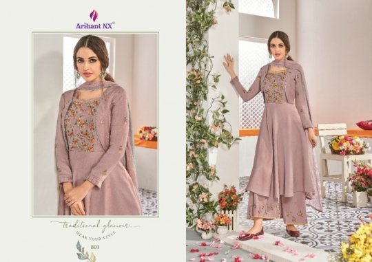 ARIHANT NX CHAHAT VOL 1 MAKLIN PLAZZO STYLE READYMADE SUIT COLLECTION WHOLESALE DEALER BEST RATE BY GOSIYA EXPORTS SURAT (3)