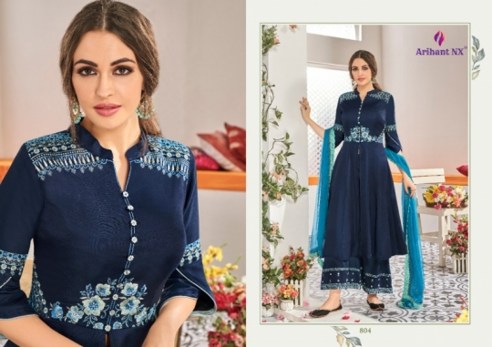 ARIHANT NX CHAHAT VOL 1 MAKLIN PLAZZO STYLE READYMADE SUIT COLLECTION WHOLESALE DEALER BEST RATE BY GOSIYA EXPORTS SURAT (5)