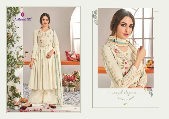 ARIHANT NX CHAHAT VOL 1 MAKLIN PLAZZO STYLE READYMADE SUIT COLLECTION WHOLESALE DEALER BEST RATE BY GOSIYA EXPORTS SURAT (8)