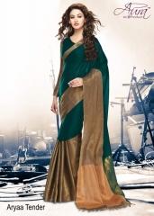 Aura aarya plus cotton silk sarees BY GOSIYA EXPORTS (5)