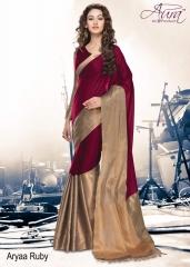 Aura aarya plus cotton silk sarees BY GOSIYA EXPORTS (8)