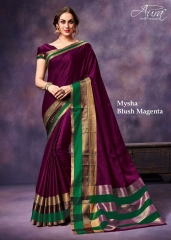 AURA MYSHA SILK SAREES BUY AT WHOLESALE SUPPLIER DEALER WHOLESALE BEST RATE BY GOSIYA EXPORTS SURAT (2)
