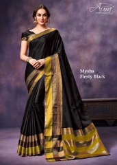 AURA MYSHA SILK SAREES BUY AT WHOLESALE SUPPLIER DEALER WHOLESALE BEST RATE BY GOSIYA EXPORTS SURAT (3)