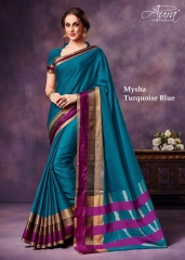 AURA MYSHA SILK SAREES BUY AT WHOLESALE SUPPLIER DEALER WHOLESALE BEST RATE BY GOSIYA EXPORTS SURAT (5)