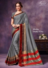 AURA MYSHA SILK SAREES BUY AT WHOLESALE SUPPLIER DEALER WHOLESALE BEST RATE BY GOSIYA EXPORTS SURAT (6)