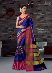 AURA SAREES BY NAUSHEEN VOL 9 CATALOGUE SILK SAREES CASUAL WEAR COLLECTION WHOLESALE BEST RATE BY GOSIYA EXPORTS SURAT (1)