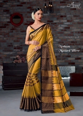 AURA SAREES BY NAUSHEEN VOL 9 CATALOGUE SILK SAREES CASUAL WEAR COLLECTION WHOLESALE BEST RATE BY GOSIYA EXPORTS SURAT (2)