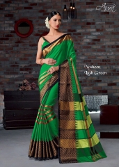 AURA SAREES BY NAUSHEEN VOL 9 CATALOGUE SILK SAREES CASUAL WEAR COLLECTION WHOLESALE BEST RATE BY GOSIYA EXPORTS SURAT (3)