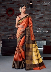 AURA SAREES BY NAUSHEEN VOL 9 CATALOGUE SILK SAREES CASUAL WEAR COLLECTION WHOLESALE BEST RATE BY GOSIYA EXPORTS SURAT (4)