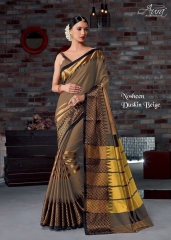 AURA SAREES BY NAUSHEEN VOL 9 CATALOGUE SILK SAREES CASUAL WEAR COLLECTION WHOLESALE BEST RATE BY GOSIYA EXPORTS SURAT (5)