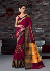 AURA SAREES BY NAUSHEEN VOL 9 CATALOGUE SILK SAREES CASUAL WEAR COLLECTION WHOLESALE BEST RATE BY GOSIYA EXPORTS SURAT (6)