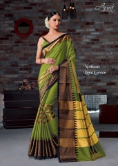 AURA SAREES BY NAUSHEEN VOL 9 CATALOGUE SILK SAREES CASUAL WEAR COLLECTION WHOLESALE BEST RATE BY GOSIYA EXPORTS SURAT (7)