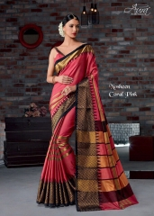 AURA SAREES BY NAUSHEEN VOL 9 CATALOGUE SILK SAREES CASUAL WEAR COLLECTION WHOLESALE BEST RATE BY GOSIYA EXPORTS SURAT (8)