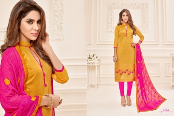 AVC KALYANI SILK VOL 2 BANARSI JECARD SALWAR KAMEEZ CATALOG WHOLESALE BEST RATE (4)