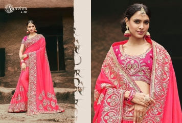 AVIVA SAREES BY KANHERI CATALOGUE DESIGNER PARTY WEAR SAREES COLLECTION WHOLESALE BEST RATE BY GOSIYA EXPORTS SURAT (17)