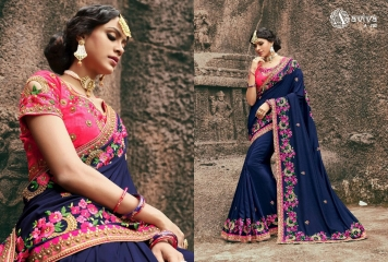AVIVA SAREES BY KANHERI CATALOGUE DESIGNER PARTY WEAR SAREES COLLECTION WHOLESALE BEST RATE BY GOSIYA EXPORTS SURAT (18)
