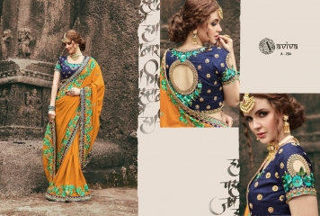 AVIVA SAREES BY KANHERI CATALOGUE DESIGNER PARTY WEAR SAREES COLLECTION WHOLESALE BEST RATE BY GOSIYA EXPORTS SURAT (19)