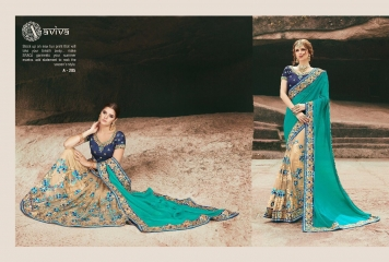 AVIVA SAREES BY KANHERI CATALOGUE DESIGNER PARTY WEAR SAREES COLLECTION WHOLESALE BEST RATE BY GOSIYA EXPORTS SURAT (20)