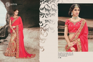 AVIVA SAREES BY KANHERI CATALOGUE DESIGNER PARTY WEAR SAREES COLLECTION WHOLESALE BEST RATE BY GOSIYA EXPORTS SURAT (21)