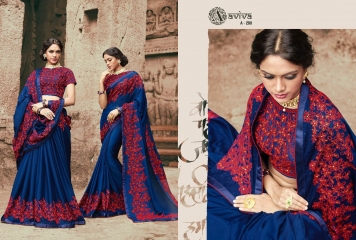 AVIVA SAREES BY KANHERI CATALOGUE DESIGNER PARTY WEAR SAREES COLLECTION WHOLESALE BEST RATE BY GOSIYA EXPORTS SURAT (23)