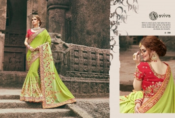 AVIVA SAREES BY KANHERI CATALOGUE DESIGNER PARTY WEAR SAREES COLLECTION WHOLESALE BEST RATE BY GOSIYA EXPORTS SURAT (24)