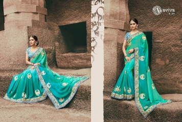 AVIVA SAREES BY KANHERI CATALOGUE DESIGNER PARTY WEAR SAREES COLLECTION WHOLESALE BEST RATE BY GOSIYA EXPORTS SURAT (26)