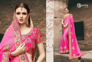 AVIVA SAREES BY KANHERI CATALOGUE DESIGNER PARTY WEAR SAREES COLLECTION WHOLESALE BEST RATE BY GOSIYA EXPORTS SURAT (27)
