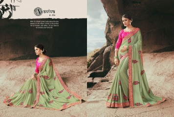 AVIVA SAREES BY KANHERI CATALOGUE DESIGNER PARTY WEAR SAREES COLLECTION WHOLESALE BEST RATE BY GOSIYA EXPORTS SURAT (29)