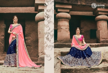 AVIVA SAREES BY KANHERI CATALOGUE DESIGNER PARTY WEAR SAREES COLLECTION WHOLESALE BEST RATE BY GOSIYA EXPORTS SURAT (30)