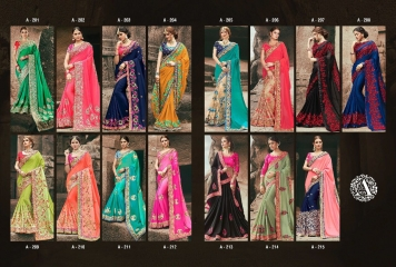 AVIVA SAREES BY KANHERI CATALOGUE DESIGNER PARTY WEAR SAREES COLLECTION WHOLESALE BEST RATE BY GOSIYA EXPORTS SURAT (31)