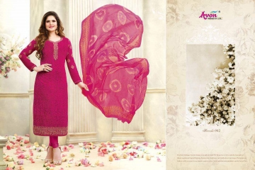 AVON AAROHI VOL 14 GEORGETTE EMBRIODERY SALWAR KAMEEZ WHOLESALE BEST RATE BY GOSIYA EXPORTER SURAT (2)