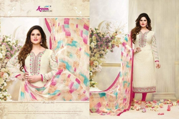 AVON AAROHI VOL 14 GEORGETTE EMBRIODERY SALWAR KAMEEZ WHOLESALE BEST RATE BY GOSIYA EXPORTER SURAT (3)