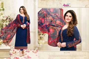 AVON AAROHI VOL 14 GEORGETTE EMBRIODERY SALWAR KAMEEZ WHOLESALE BEST RATE BY GOSIYA EXPORTER SURAT (6)