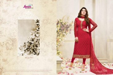 AVON AAROHI VOL 14 GEORGETTE EMBRIODERY SALWAR KAMEEZ WHOLESALE BEST RATE BY GOSIYA EXPORTER SURAT (7)