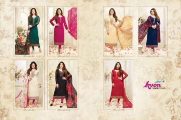 AVON AAROHI VOL 14 GEORGETTE EMBRIODERY SALWAR KAMEEZ WHOLESALE BEST RATE BY GOSIYA EXPORTER SURAT (8)
