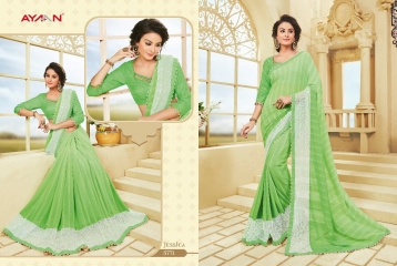 AYAN TRENDZ FUSION TADKA CATALOG FANCY DESIGNER SAREES COLLECTION WHOLESALE (1)